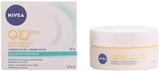 NIVEA Q10 Power Antiarrugas Cuidado de Día (1 x 50 ml) crema facial antiarrugas para piel mixta crema hidratante con pro...