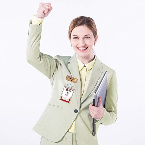 5 Pack Nurse Badge Reel Holder, Retractable Nurse RN Badge Holder Reel Clip Nurse Badge ID Clip Badge Reel Holder Nursing Name Badge Holder Felt Badge Reels with 5 ID card Holder for Nurses & Doctors Photo #4