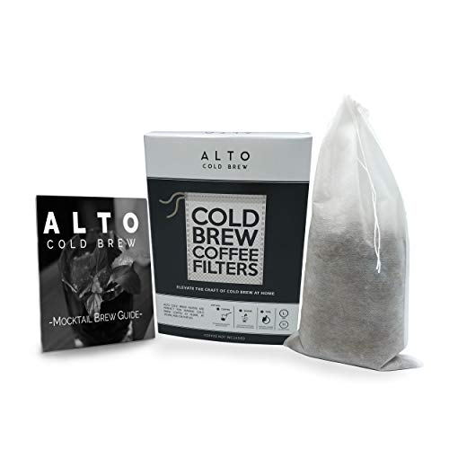 No Mess Disposable Cold Brew Coffee Filters - 35 Pack - Cleaner, Brighter Cold Brew, Without the Cleanup - Works for Tea, Iced Coffee, Cold Press, French Press (Gallon Pitcher Size)