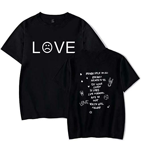 JiangJie Kawaii Lil Peep R.I.P Rapper T Shirt Rap Hiphop LilPeep Uomo Donna Cool T-Shirt Graphic Print Tee Hip Hop Tops Cotone Hip Hop T-Shirt Uomo Estate Allentato Tee Shirts