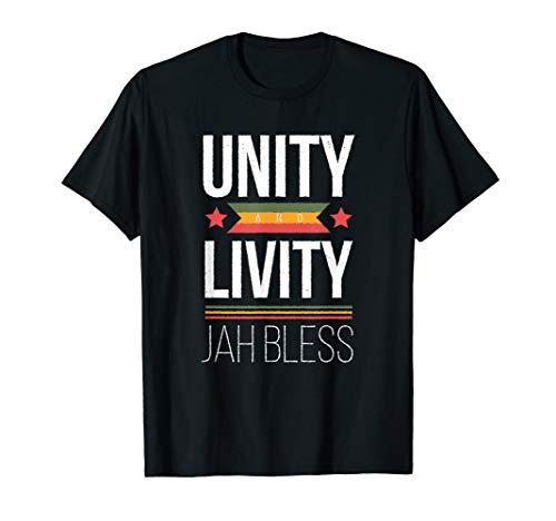 Unity & Livity Jah Bless Reggae Rastafari Rasta Jamaica Gift T-Shirt