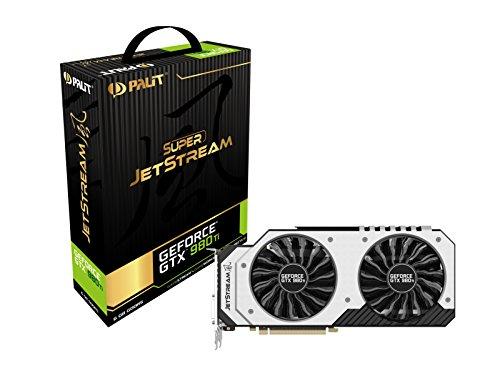 Palit NE5X98TH15JBJ Super Jetstream GTX980TI NVIDIA Grafikkarte (PCI-e 6GB GDDR5 DVI, HDMI, Display Port)