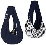 CUBY Bolso transportador para perros y gatos pequeño, mochila para un solo hombro, bolsa para viaje (azul)
