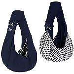 CUBY Carrier Sling Dog Small Dog Cat Sling Pet Sling Backpack Single Shoulder Pet Bag for Travel Dog Carrier Bag (Blue) 8