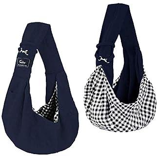 CUBY Carrier Sling Dog Small Dog Cat Sling Pet Sling Backpack Single Shoulder Pet Bag for Travel Dog Carrier Bag (Blue) 20