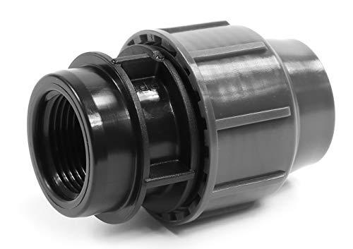 'PP connecteur de serrage pour tuyaux en PE 25 mm x 3/4 filetage femelle