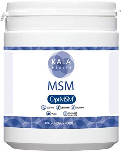Kala Health OptiMSM 500g Mehrstufige Destillation Methylsulfonylmethan grobes Pulver Coarse Flakes, Nahrungsergänzungsmittel organischer Schwefel für Gelenke, Haut, Haare & Nägel, Laborgetestet, KEINE ZUSATZSTOFFE, Hergestellt in den USA, 1 Zutat.