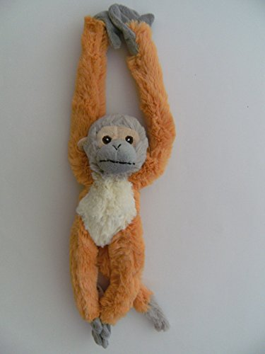 PIA International Stofftier Hängeaffe, Totenkopfäffchen, 40 cm, hängend, Kuscheltier Plüschtier, AFFE Affen Hängeaffen