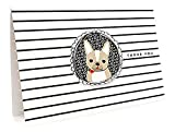 Frenchie Thank You Cards, 6-Pack by Night Owl Paper Goods