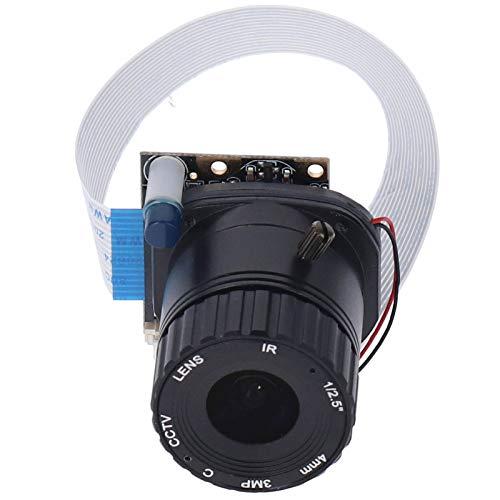 Kuuleyn Módulo de cámara, RPI ‑ Auto ‑ IR Cut Cámara con ángulo de Campo de 65 Grados,Velocidad de Cuadro de 30 FPS, módulo de cámara con Lente de 4 mm de Alta definición de 5 MP para Raspberry Pi 4