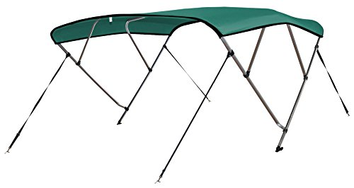 Review Leader Accessories 4 Bow Teal 8'L x 54 H x 61-66 W Bimini Tops Boat Cover 4 Straps for Fro...
