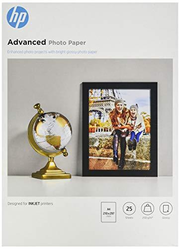 HP Q5456A Advanced Glossy Fotopapier 250g/m² A4 25 Blatt, weiß