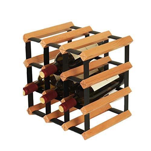 Yousiju Estante de Vino, Titular de vinos de tamaño múltiple Sala de Estar de la casa Rack de Vino de Madera Maciza Decoración de la Red de Vino Moderno Restaurante Bar Red Wine Stand