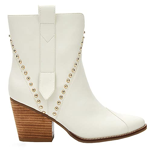 Matisse Footwear Ace Studded Ankle Boot, Bone Size 9.5