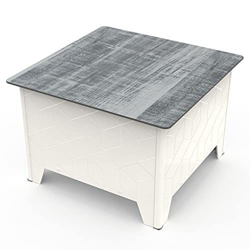 Palram Leonard Square Coffee Table with...