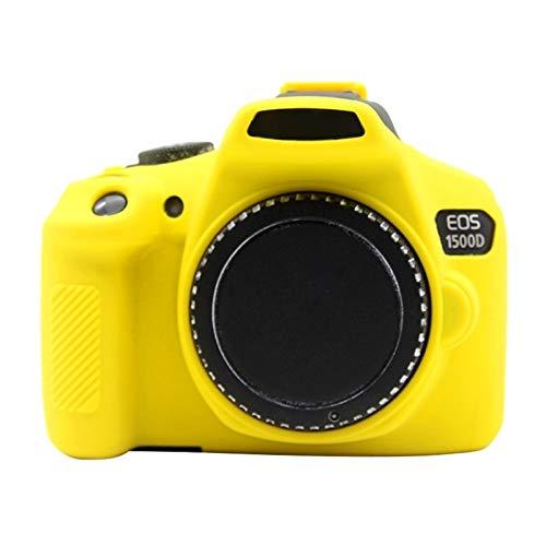 Camera-accessoires Soft silicone beschermhoes for de Canon EOS 1300D / 1500D (Camouflage) (Color : Yellow)