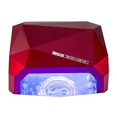 Appareil de photothérapie à ongles Nail Dryer-36W Lampe Capteur Diamant Capteur Lampe Avec Magnétique Lampadaire Traitement Lampe LED Diamant Machine De Photothérapie Lampe Ongles