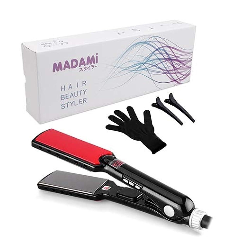 ヘルシーインフラ会計士Mosj 携帯用毛のストレートナ、ストレートナの高温まっすぐにする鉄の模倣用具力:40W-59W (色 : Black)