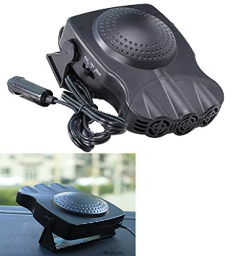 WUJIU Ventilateur De Voiture, Chauffeur/Refroidissement / Chauffage/Ventilateur / Portable/Dégivrage / Defoggerauto/Céramique Heater12v 150W, 3 Prises/Prise Into Cigarette Lighter
