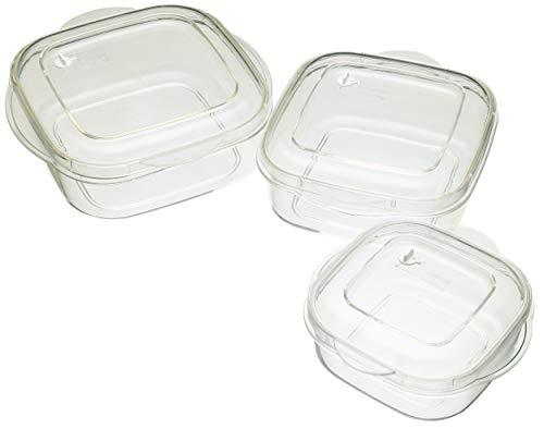 Kitchen Craft Récipients micro-ondes 3 pièces Résistant aux tâches