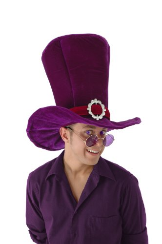 elope Madhatter Giant Alice In Wonder Land Hat, Purple, One Size