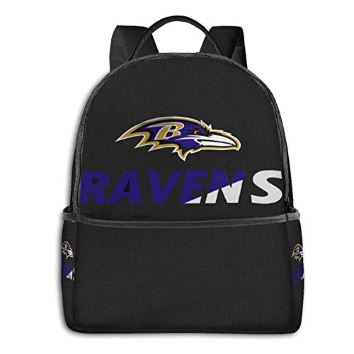 Baltimore Ravens Youth 17 Inch Computer Backpack Foldablebackpack With Usb College Students Travel Handbags