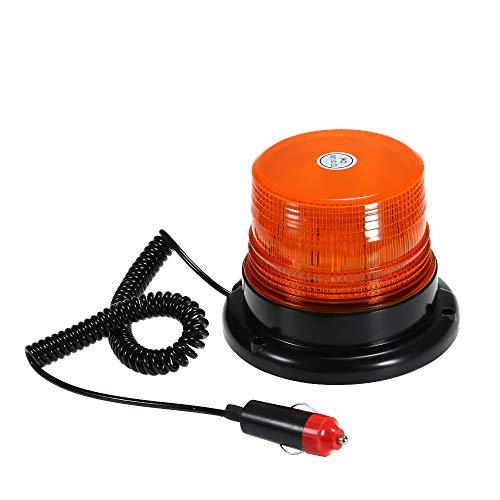 KKmoon Luz LED Estroboscópica, Faro Intermitente de Advertencia de Emergencia con Base Magnética para camión vehículo