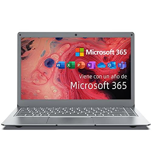 Jumper Ordenador Portátil de 13.3 'FullHD (Microsoft Office 365, 4GB RAM, 64GB eMMC, Windows 10 Home, CPU Intel Core, Bluetooth 4.2, USB 3.0) Plata -Teclado QWERTY Españoles