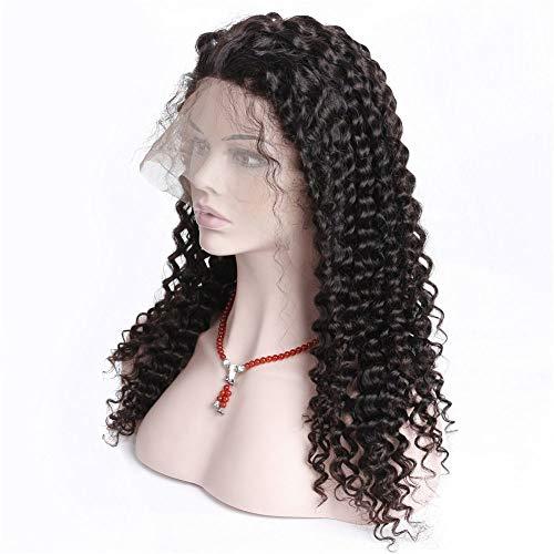 KHOBGLU Vague Profonde 360 Lace Front Perruque Pré plumé Perruques de Cheveux Humains Les Femmes Naturelles Hairline 10-24 Pouces 10inches
