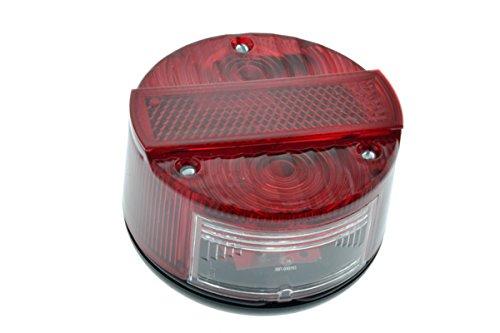 Rücklicht rund 6+12V komplett passend für Simson S50 S51 SR50 KR51 mit E-Prüfzeichen