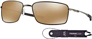 Oakley Square Wire OO4075 Sunglasses For Men+BUNDLE with Oakley Accessory Leash Kit