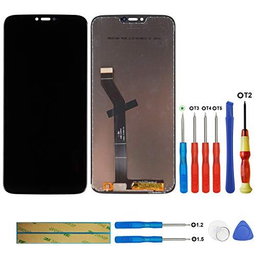 Swark Display LCD Compatible con Motorola Moto G7 Power XT1955 Negro Pantalla tactil digitalizador Cristal sin Marco de Montaje + Herramientas