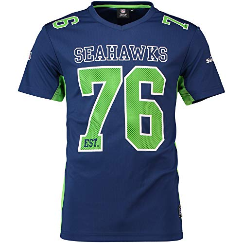 Fanatics Seattle Seahawks T Shirt NFL Fanshirt Jersey American Football Blau - XXL