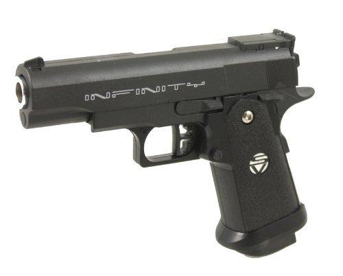 g8ds Set: Sport Softair Pistole VOLLMETALL G10 0,5 Joule 6mm Waffe ab 14 Jahren freigegeben Bio Munition 0,20g 2000 STK