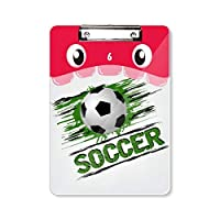 緑のサッカー・スポーツ 虎口フラットヘッドフォルダー書き込みパッド学習A4