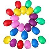 24 Pezzi Uovo Shaker Set Uova di Pasqua Maracas Uova Musicali Uova di Plastica per la Fest...