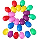 Sumind 24 Pieces Egg Shaker Set Easter Eggs Maracas Eggs Musical Eggs Plastic Eggs for Easter Party Favours Party Supplies Musical Toys, 6 Colors