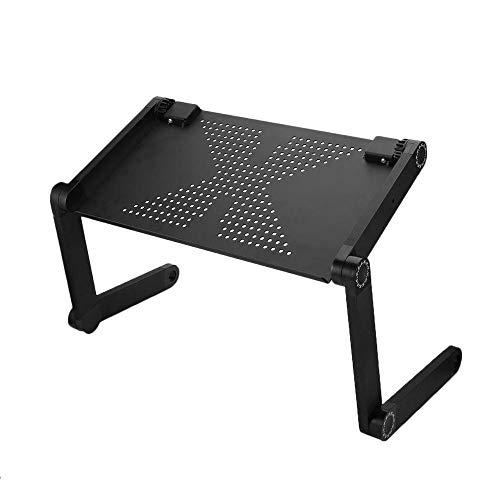 Bureze Homdox portátil ajustable de 360 grados portátil portátil portátil vuelta PC mesa de escritorio plegable soporte ventilado cama bandeja