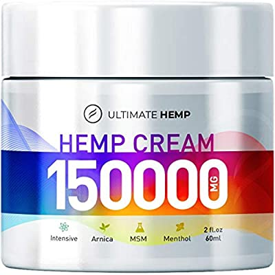 Hemp Ultimate Pain Relief Cream – Relieves Muscle, Joint Pain, Lower Back Pain, Knees, and Fingers – Inflammation – Hemp Extract Remedy – Hemp Oil with MSM – Arnica 2oz by HEMP ULTIMATE