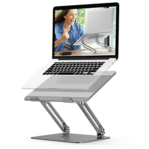 Adjustable Laptop Stand, EPN Laptop Riser with Heat-Vent to Elevate Laptop, Aluminum Notebook Holder Compatible for MacBook Pro/Air, Surface Laptop, Dell XPS, HP, Samsung and Other 11-17.3 in