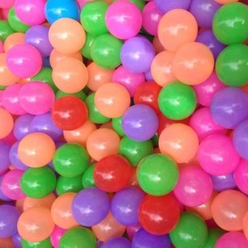 Bheema Souked 20Piezas plástico Colorido océano Pelota para bebés niños Juguetes Swim Pit