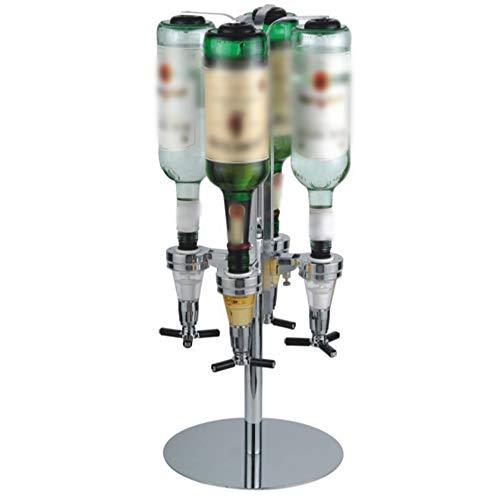 Liquor Dispenser,Aluminum Alloy&ABS Wall Mounted Liquor Dispenser 25ml Portable Beverage Wine Racks Cocktail Dispenser Wine Holder Bar Butler Bracket Beer Alcohol Bottle Beverage Stand (4-Bottle)