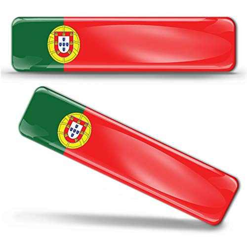2 x sticker 3D gel silicone stickers Portugal vlag Portugese vlag vlag vlag vlag autosticker F 17
