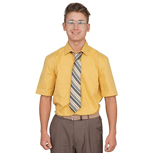 Adult Halloween Costume Set Office Schrute Short Sleeve T-Shirt and Tie - http://coolthings.us