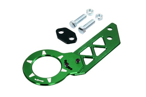 VMS Racing Green Rear Adjustable T6061 CNC Billet Anodized Aluminum Towing Tow Hook Compatible with Honda Civic CRX CR-X Del Sol All Models Totally REDESIGNED JDM