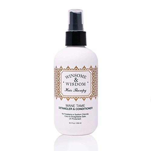 Mane Tame 8 oz Hair Detangler Spray For Women Cruelty Free Leave In Conditioner Curly Hair Men Kids...
