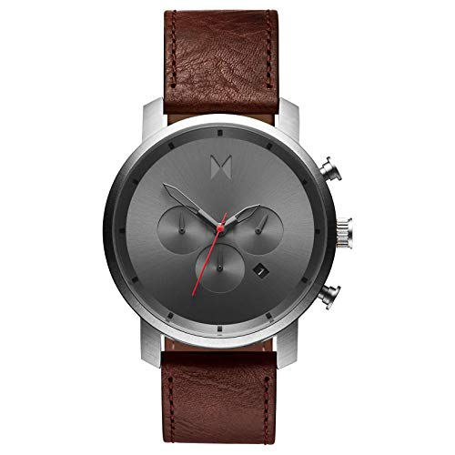 MVMT Men's Chronograph Watch with Analog Date | Gunmetal Chestnut