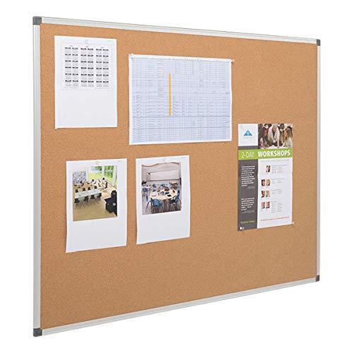 Learniture LNT-127-4872-SO Natural Cork Board w/ Aluminum Frame, Brown