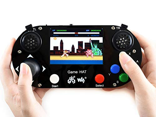Waveshare Game Hat for Raspberry Pi A+/B+/2B/3B/3B+/4B 3.5inch IPS Screen 480 * 320 Resolution 60 Frame Experience Make Your Own Game Console
