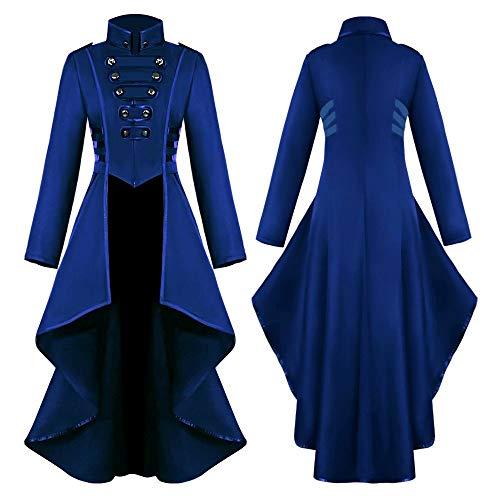 Vestido Medieval para Mujer, Disfraz de Cosplay renacentista, Bata Retro, Disfraz de Halloween de Manga Larga Acampanada